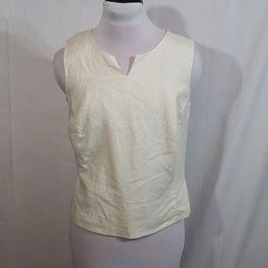 EUC Merona Ivory Linen Sleeveless Top Size Small